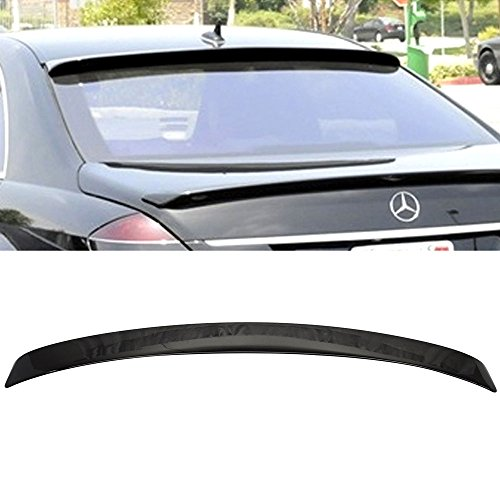 Roof Spoiler Fits Pre-painted 2007-2013 Benz S Class W221 4D | L Style OEM Painted # 040 Black - Other Color Available Rear Trunk Tail Spoiler Wing by IKON MOTORSPORTS (W221 Roof)