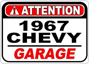 1967 67 CHEVY CK 1500 Attention Garage Aluminum Street Sign - 10 x 14 Inches