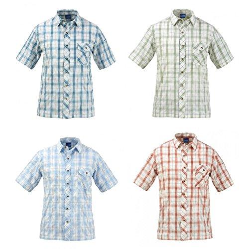Propper Men's Covert Button Up Shirt, Light Blue Plaid, X-Large