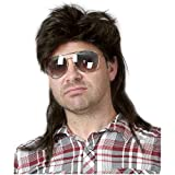 Baruisi 80s Men's Mullet Wig Black Cosplay