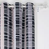 Deconovo Piano Pattern Grommet Blackout Window Curtain Panel W42 x L84 One Panel Muti-Colour For Sale