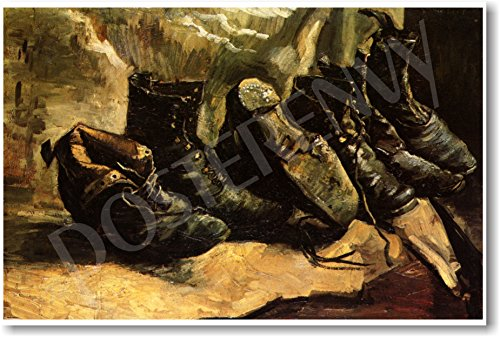 Three Pairs of Shoes 1886 - Vincent Van Gogh - NEW Fine Arts Poster