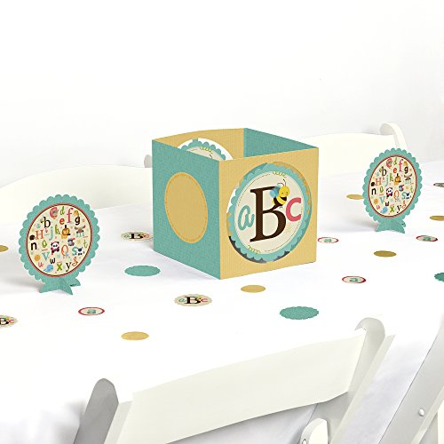 A is for Alphabet - Baby Shower or Birthday Party Centerpiece & Table Decoration Kit