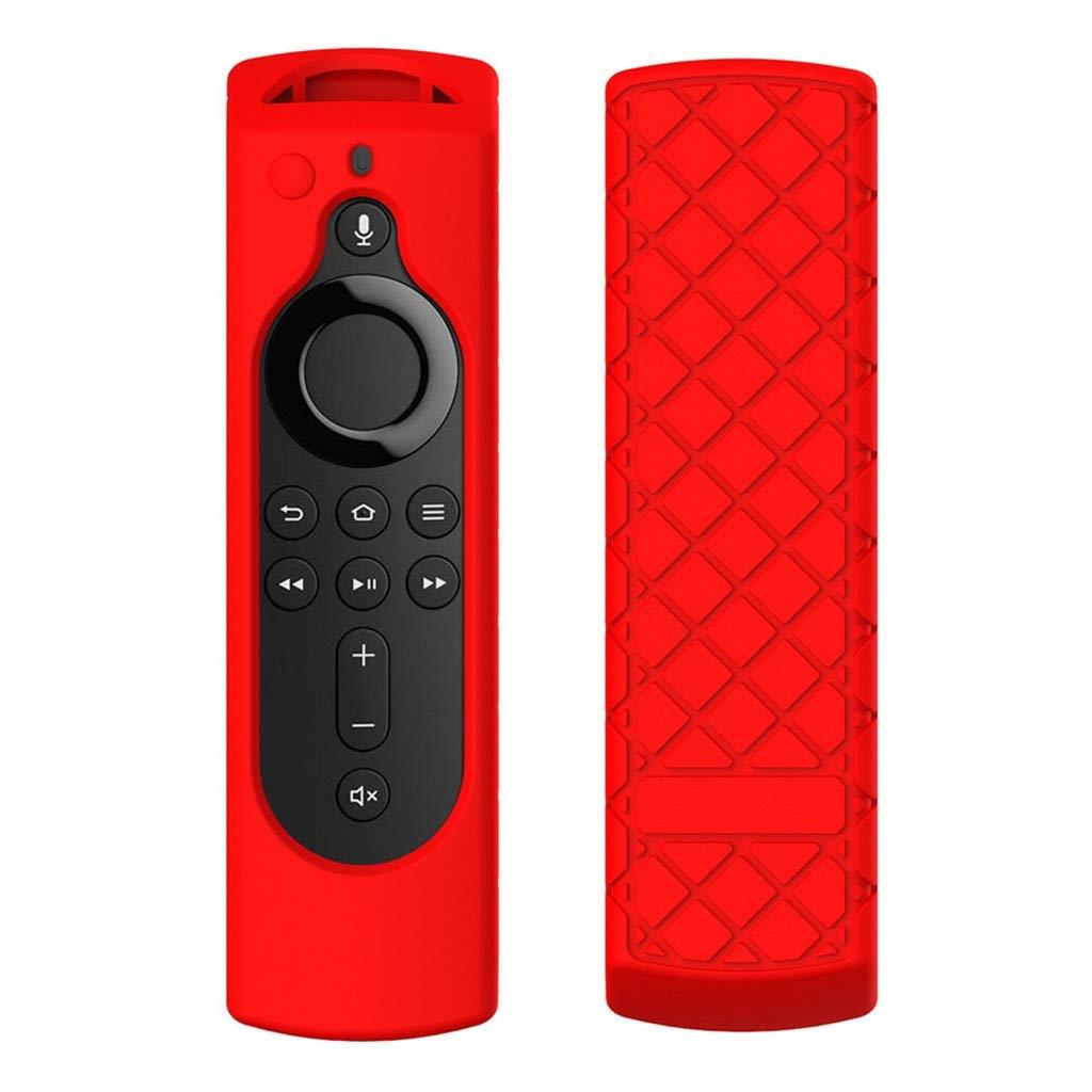 TV Silicone case,Creazy2019 for Amazon Fire TV Stick 4K TV Stick Remote Silicone Case Protective Cover Skin (Red)