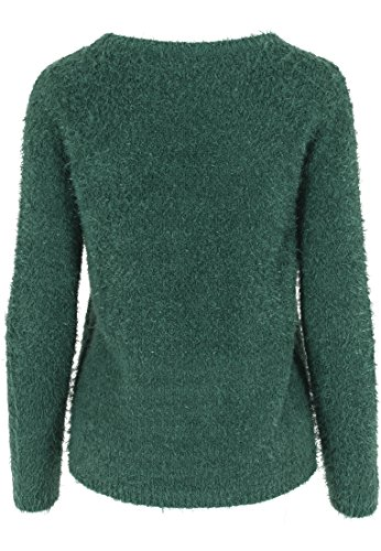 Urban Classics Pullover Feather Crew-suéter Mujer Multicolor (Forest)