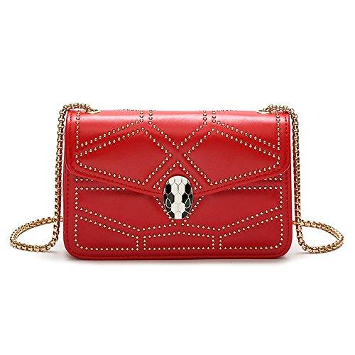Axiba chain Bag cross bags shoulder diagonal Single multifunction women Red fashion diamond fwqrxfna