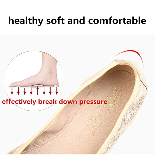 On Luobote Foldable Point Flats Toe Bridal Rhinestone Women Silver 2 Flat Shoes Slip Ballet f88w5XUx