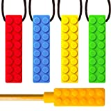 SENSO MEGA BUNDLE Sensory Chew Necklace Set - (4 PACK + BONUS PENCIL TOPPER) - Silicone Chewy for ADHD, Teething, Autism, Biting, Oral Motor Chew Toy for Boys and Girls - UPGRADED TOUGHER CHEW