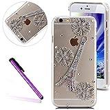 6 Case iPhone 6S Case EMAXELER Bling Swarovski Crystal Rhinestone Diamond Clear Slim Premium Hard PC Case for iPhone 6/6S 4.7