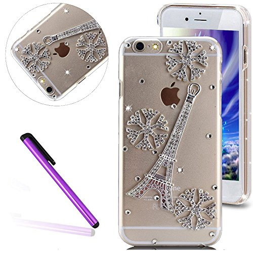 louis vuitton 6 plus phone case. 6s plus case iphone emaxeler bling swarovski crystal rhinestone diamond clear slim premium hard pc for 6/6s 5.5\ louis vuitton 6 phone