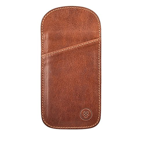Maxwell Scott© Luxury Italian Leather Men's Reading Glasses Case (The Rufeno), - Personalised Case Glasses