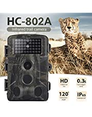 DishyKooker Outdoor Camera 16MP 1080P Wildlife Trail Camera Photo Traps Infrared Wildlife Wireless Surveillance Tracking Cameras