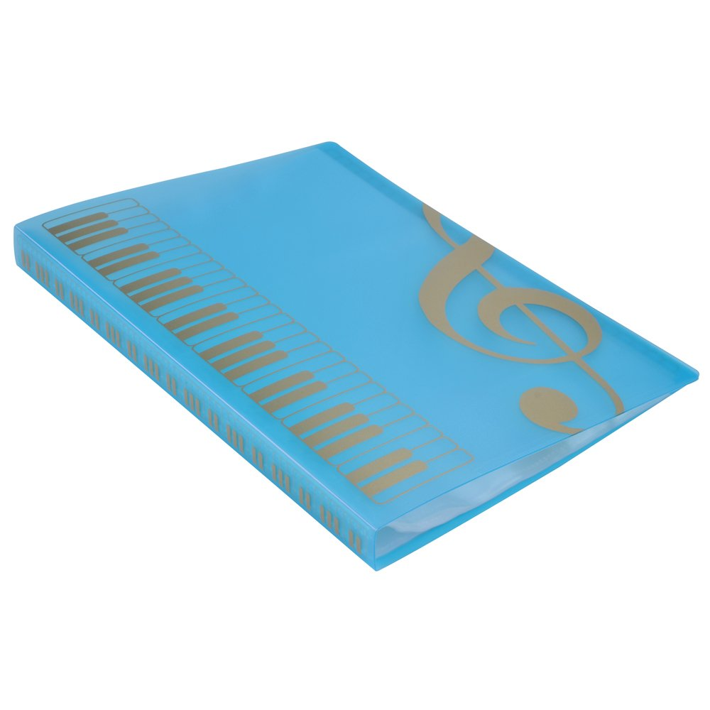 Music Sheet File Paper Storage Folder Documents Holder Blank Sheet Files Plastic A4 Size 40 Pockets (G Clef-White) PUNK HLMF02