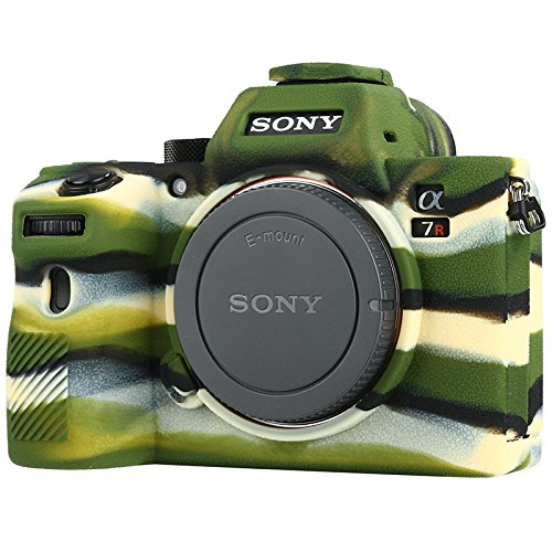 Sony A7R III Camera Housing Case, Professional Silicion Rubber Camera Case Cover Detachable Protective for Sony A7R III (Army Green)