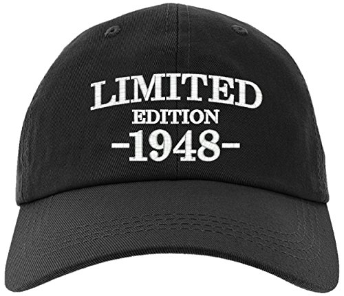 Birthday Limited Edition - owndis Cap 1948-70th Birthday Gift, Limited Edition 1948 All Original Parts Baseball Hat 1948-EM-0002-Black