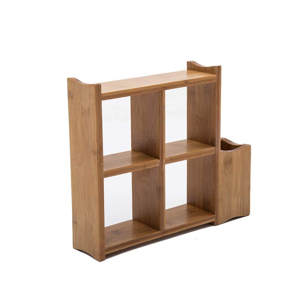 JSSFQK Stand Fiore di bambù Supporto da Tavolo Mini Desktop Multistrato Stand di Fiori