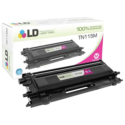 LD Remanufactured Brother TN115M (TN110M) High Yield Magenta Laser Toner Cartridge for DCP-9040CN, DCP-9045CDN, HL-4040CDN, HL-4040CN, HL-4070CDW, MFC-9440CN, MFC-9450CDN and (Brother Dcp 9045cdn Laser)