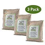 Moso Natural Air Purifying Bag. Odor Eliminator for Cars, Closets, Bathrooms and Pet Areas. Captures and Eliminates Odors. (Natural, 3 Pack)