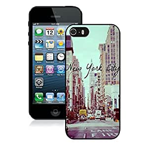 Coolest Iphone 5s Black TPU Case New York City Buildings Iphone 5 Durable Silicone Skin Cover