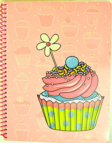 Girls Only 1-subject Wirebound Notebook, 80 Sheets, Perforated, Wide Rule, 10.5 X 8 Inches, 1 Notebook Cupcake