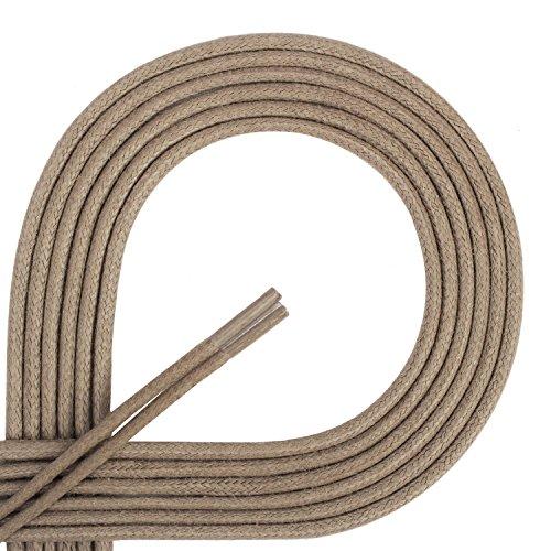 Leather Di Resistant Length olive 45 Premium nbsp;mm 120 3 Waxed nbsp;cm Laces Tear Shoes Round Diameter 2 Ficchiano Laces for Business HHx06