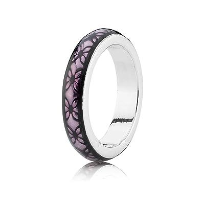 f533d3cd8 ... closeout pandora womens ring with enamel fries purple floral 190868en31  19f99 31b25