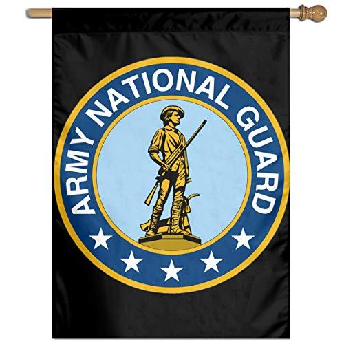 TYZBAOOSDUP Maine Army National Guard House Flag Decorative Garden Flag Yard Banner Garden Flags 27x37