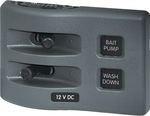 - Blue Sea Systems WeatherDeck 12V DC Waterproof 2-Position Switch Panel