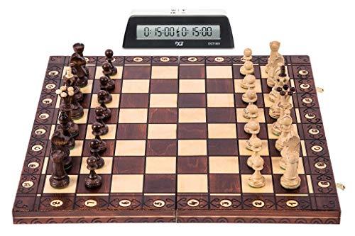 Square – Ajedrez Set S1 – Tablero de ajedrez – SENADOR Lux + Reloj DGT 1001