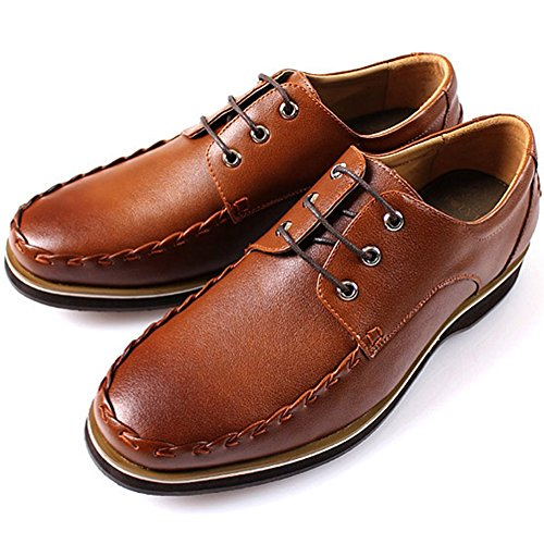 Boat Brown Shoes Fashion New Polytec Dress Leather Lace Oxfords Men up Casual q6W0xBw7