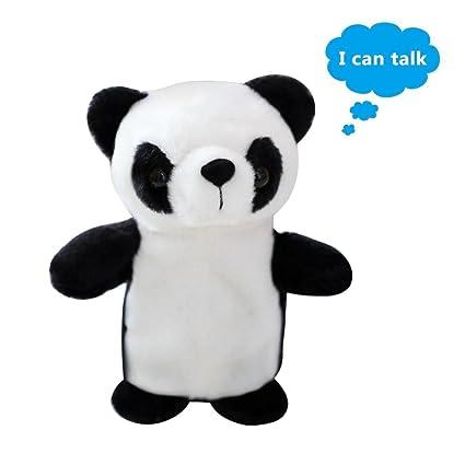 Pawaca Juguete de charla imitación de peluche, con diseño de panda, repite lo que