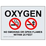 ComplianceSigns Clear Vinyl No Smoking X Feet Label, 7 x 5 in. with English