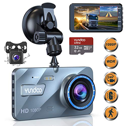 Dual Dash Cam Car Camera - Contain 32GB SD Card,Full HD 1080P Dash Camera for Cars,4