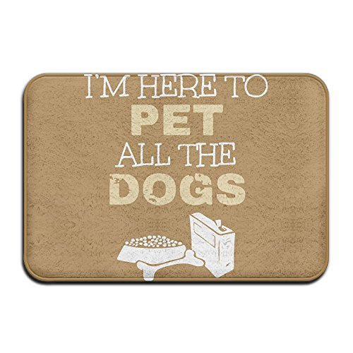 KOESBY-MT Luxury Hotel Kitchen Mat I'm Here To Pet All The Dogs Super Cozy Bathroom Rug by KOESBY-MT