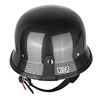 Iglobalbuy Half Helmet DOT Carbon Fiber German Style Motorcycle Cruiser Custom Airsoft Paitball Biker M/L/XL (XL) from Iglobalbuy Ltd