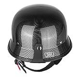 PanelTech Motorcycle Motorbike German Carbon Fiber Cruiser Sport Half Face...