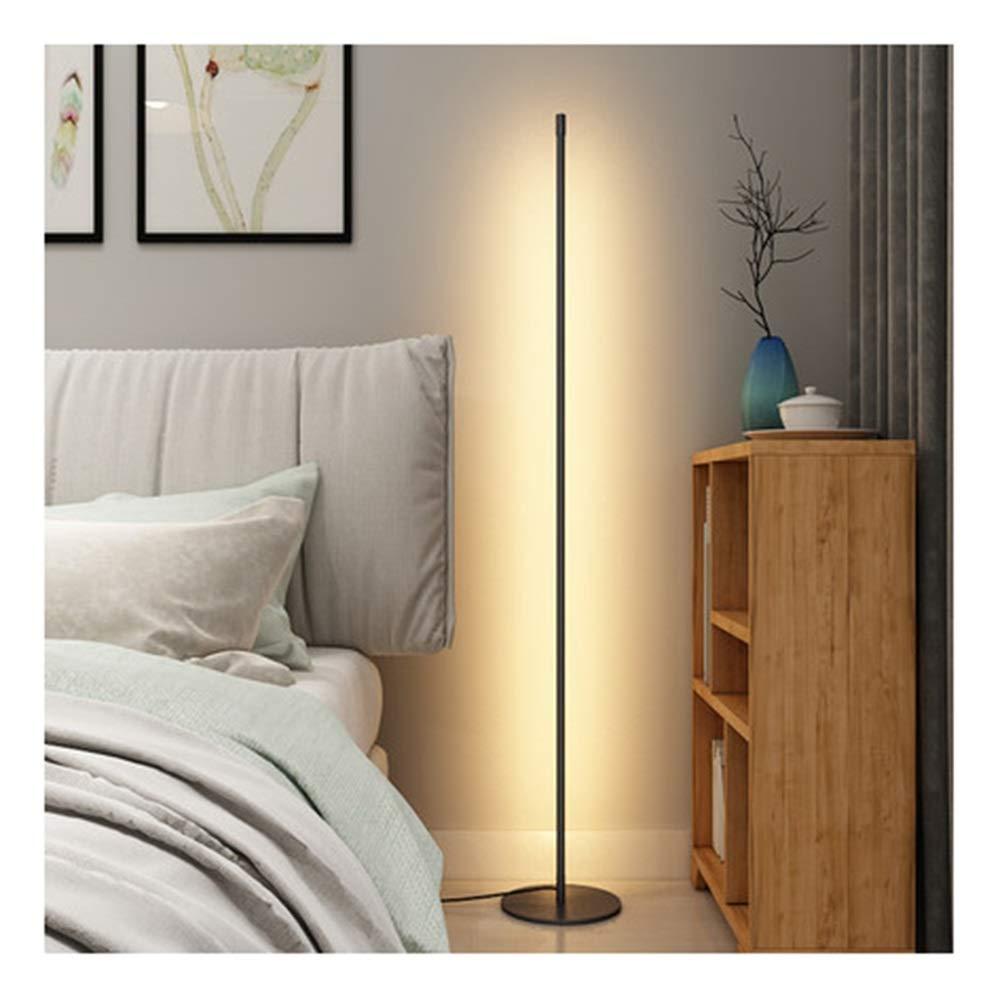 NKDK フロアランプアート寝室のベッドサイドランプ人格現代フロアランプ垂直雰囲気ランプ -153 フロアランプ (色 : 暖かい白)  暖かい白 B07QGK37HJ