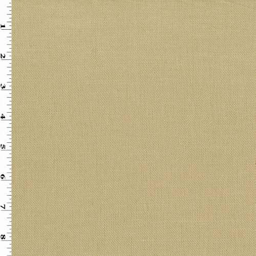 Cotton Blend Suiting - Sand Beige Cotton Blend Twill Suiting, Fabric by The Yard