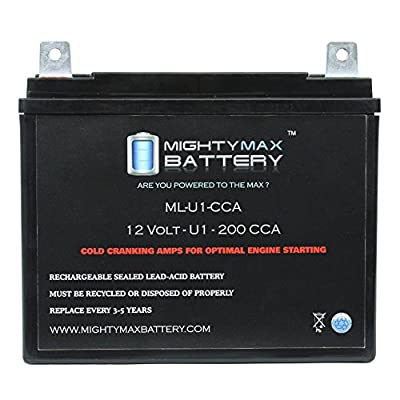 ML-U1 200CCA Battery for Wheel Horse Charger V8 Riding 8HP Lawn Mower - Mighty Max Battery brand product