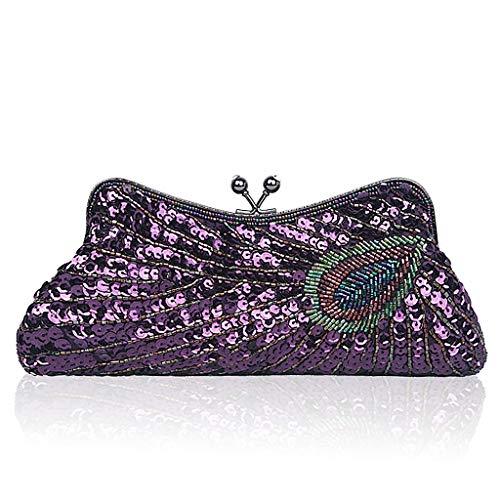Pochette champagne Wanfor Violet pour femme Beige ACzwqz