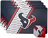 NFL Houston Texans Placemat Coaster Set