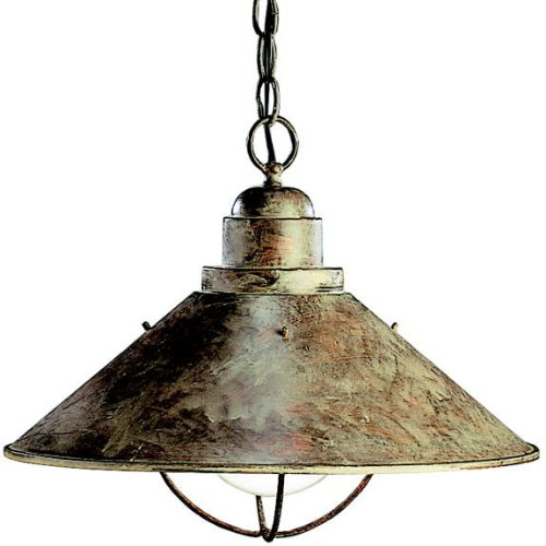 - Kichler 2713OB Seaside Outdoor Pendant 1-Light, Olde Brick
