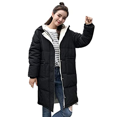 BETTERUU UFACE Women Winter Warm Thick Outerwear Hooded Coat Slim Cotton-Padded Jacket