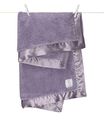 Little Giraffe Bella Baby Blanket, Lavender Signature Plush Receiving Blanket