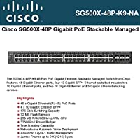 Cisco Small Business SG500X-48P - switch - 48 ports - managed - rack-mountable - SG500X-48P-K9-NA