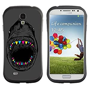 Hybrid Anti-Shock Bumper Case for Samsung Galaxy S4 / Cat & Whale wangjiang maoyi by lolosakes