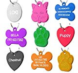 Pet ID Tag Custom for Dog Cat Personalized | Many Shapes and Colors to Choose From | Made in USA | Strong Anodized Aluminum: more info