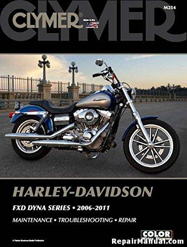 - M254 Clymer Harley Davidson FXD Dyna Series 2006-2011 Motorcycle Repair Manual