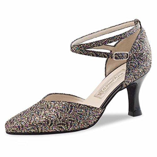 Werner Kern - Zapato de baile para mujer (tacón de 6,5 cm) Brokat multi