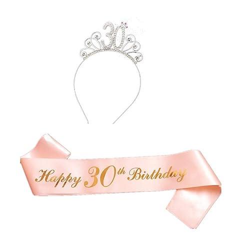 Txiangyang Feliz Cumpleaños Traje Incluye Tiara Cristal ...
